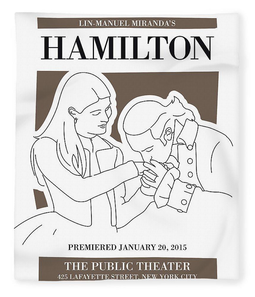 Hamilton Fleece Blanket featuring the digital art No003 MY Hamilton musical poster by Chungkong Art