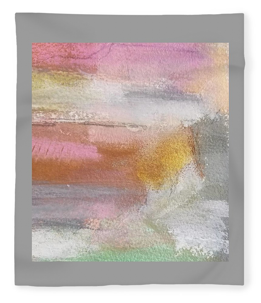 Abstract Fleece Blanket featuring the painting Nothing Can Dim the Light by Patricia Byron