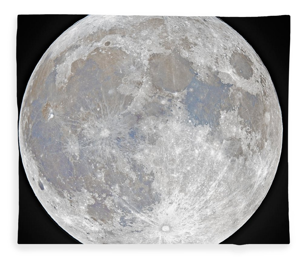 Fullmoon Fleece Blanket featuring the photograph October 2020 Halloween Full/Blue Moon by Prabhu Astrophotography