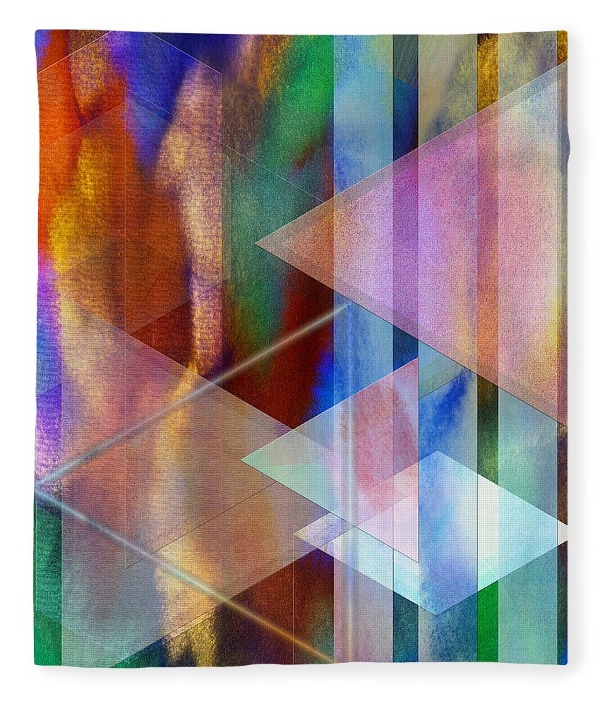 Pastoral Midnight Fleece Blanket featuring the digital art Pastoral Midnight by John Robert Beck
