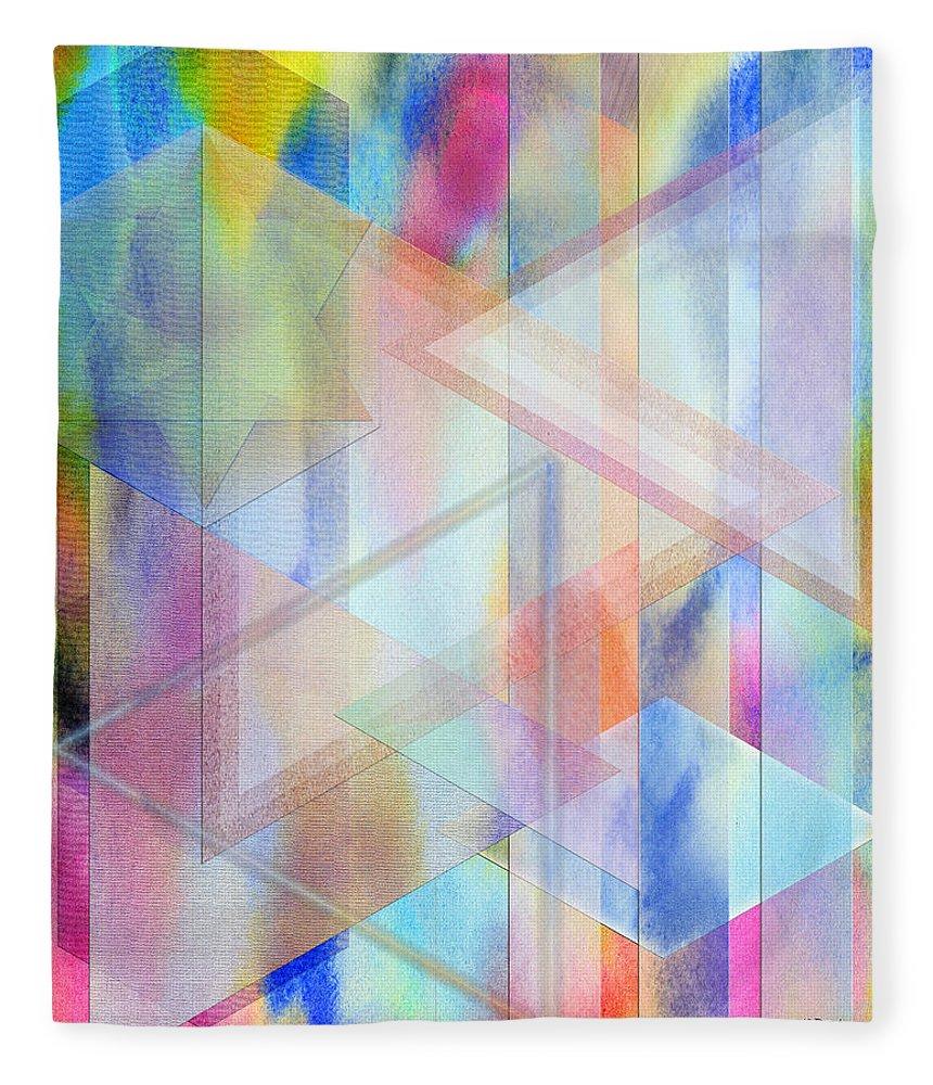 Pastoral Moment Fleece Blanket featuring the digital art Pastoral Moment by John Robert Beck