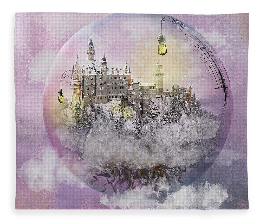 Pink Fleece Blanket featuring the digital art Setting Boundaries by Linda Lee Hall