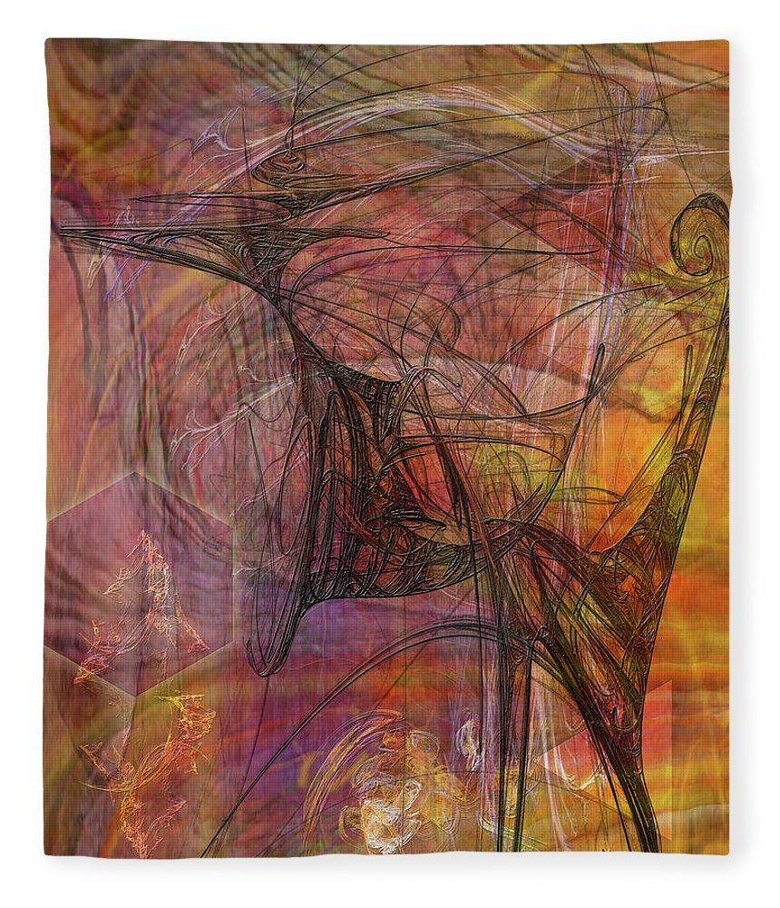 Shadow Dragon Fleece Blanket featuring the digital art Shadow Dragon by John Robert Beck