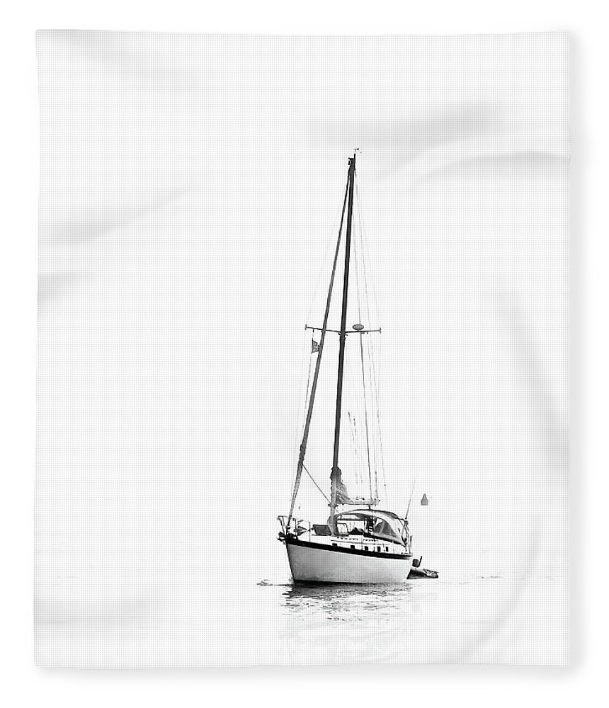 White Fleece Blanket featuring the photograph Solitude by Linda Lee Hall