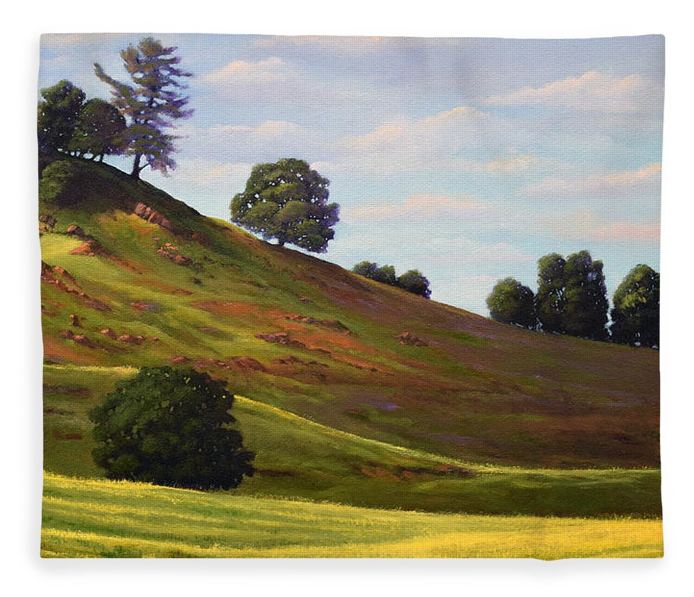 Landscape Fleece Blanket featuring the painting Spring Day by Frank Wilson