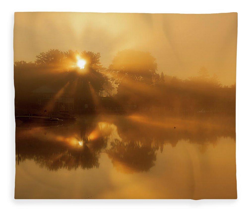 Sunbeams Fleece Blanket featuring the photograph Sunbeams by Trevor Slauenwhite