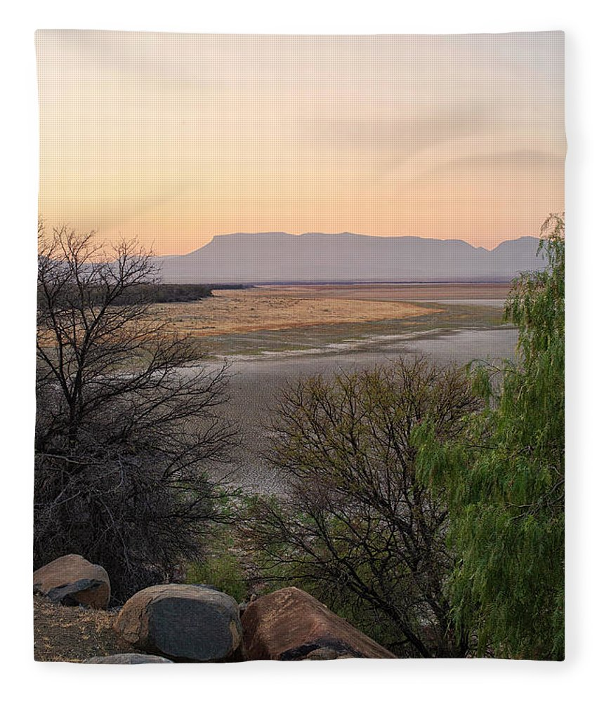 South Africa Fleece Blanket featuring the photograph Sunset At Lake by Patricia Hofmeester