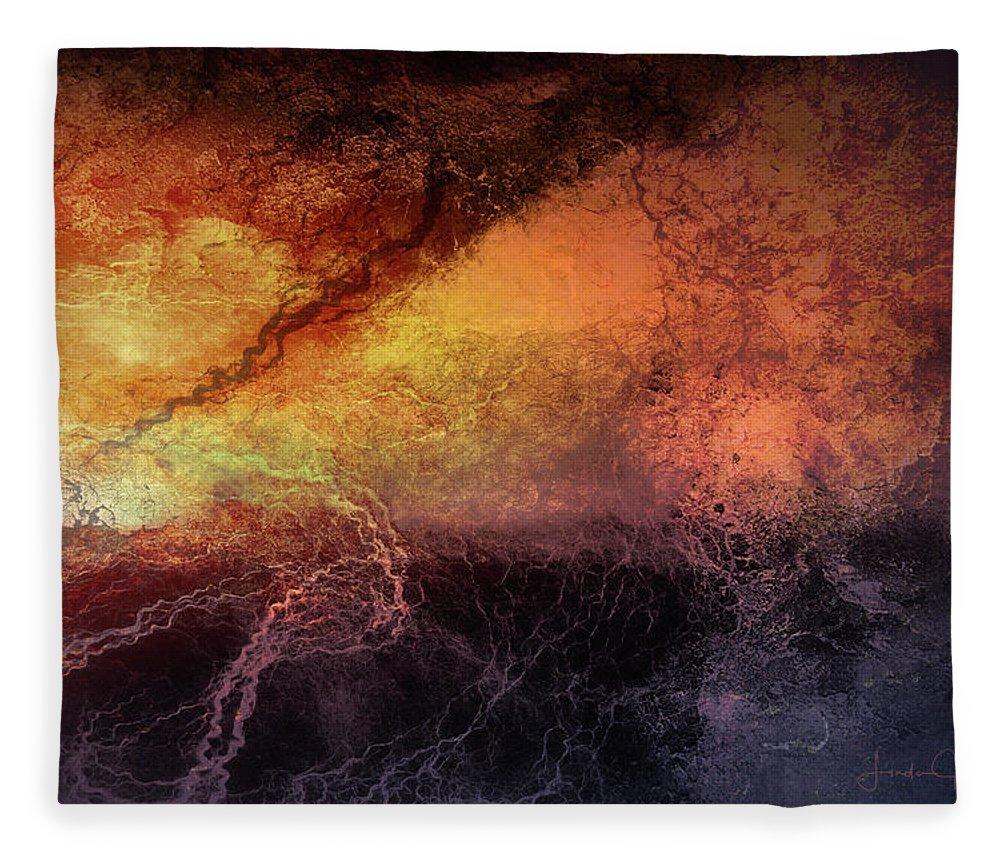 Digital Fleece Blanket featuring the digital art Tempest by Linda Lee Hall