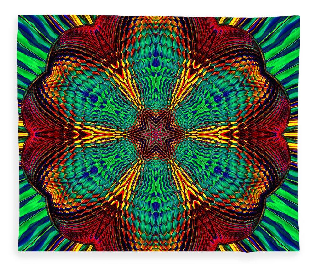 Fleece Blanket featuring the digital art Tesla's Design by Steve Solomon