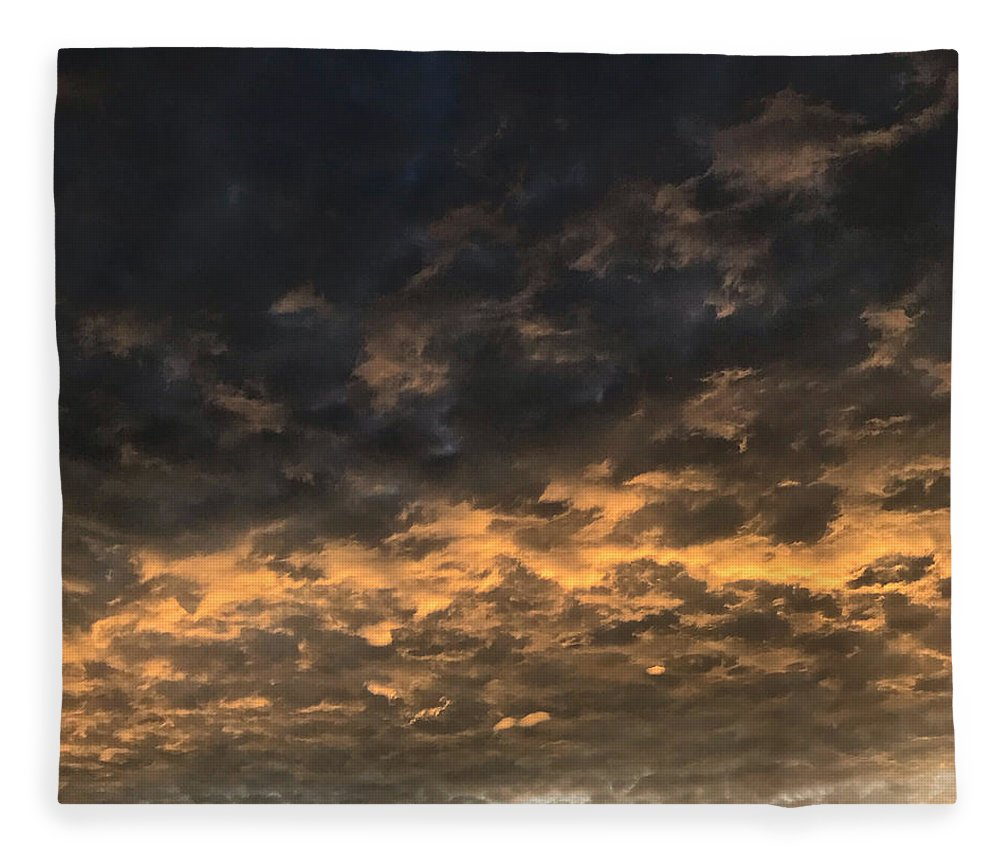 Fleece Blanket featuring the photograph Texas Storm Clouds by Jose Machin