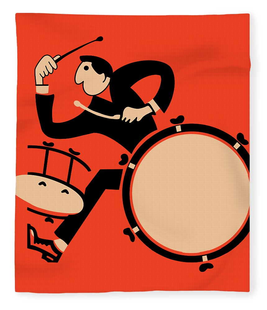 Drum Fleece Blanket featuring the photograph The Drummer by Mark Rogan