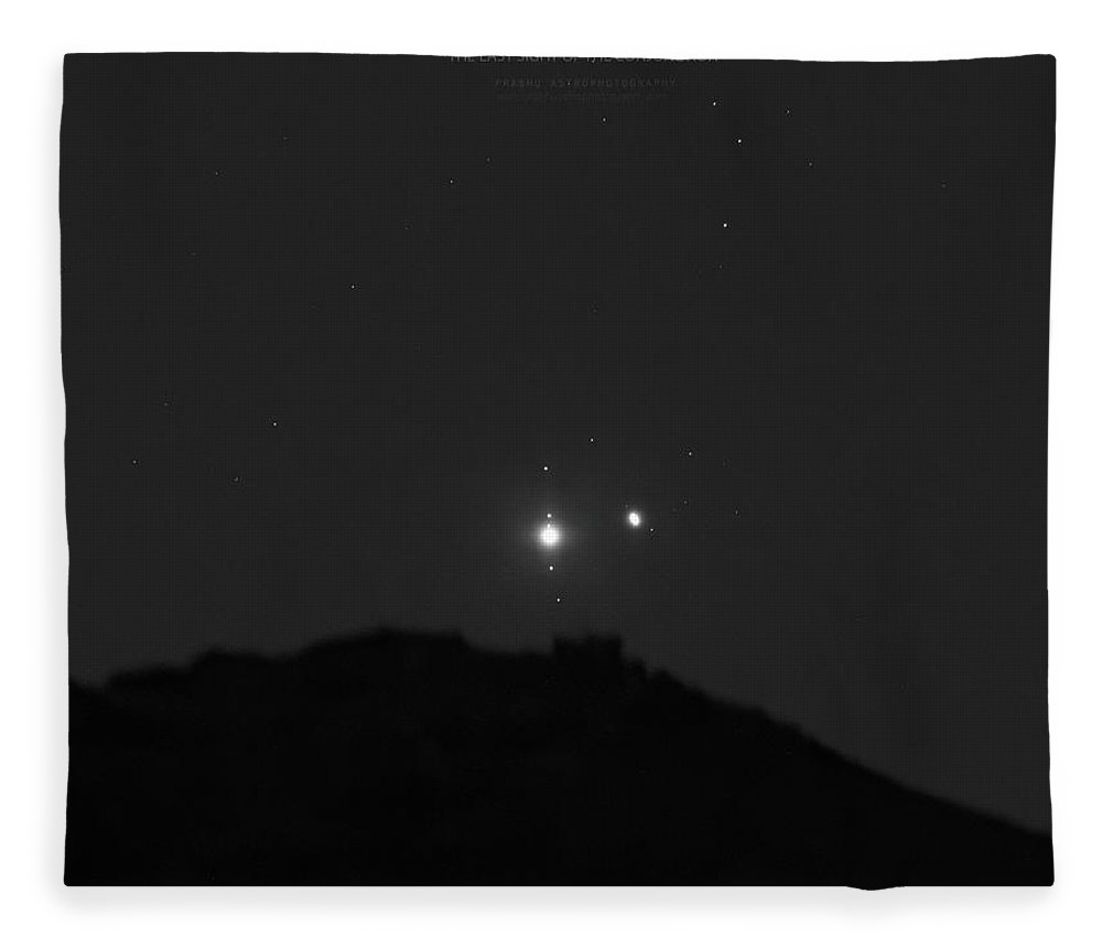 Fleece Blanket featuring the photograph The Last sight of the Conjunction by Prabhu Astrophotography