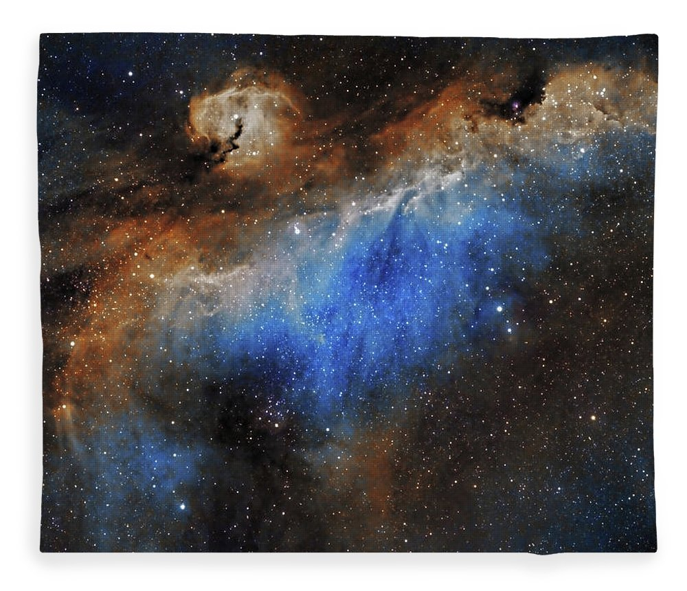 Astronomy Fleece Blanket featuring the photograph The Seagull Nebula by Prabhu Astrophotography