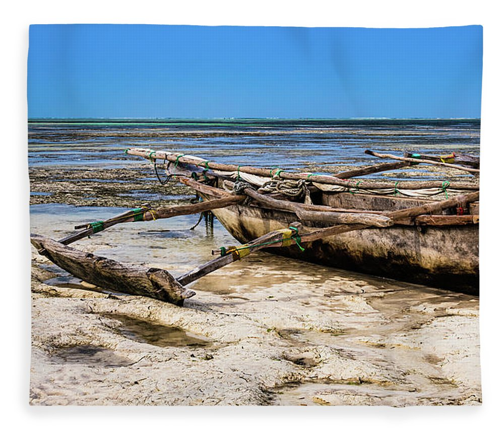 Traditional Tanzanian Boat Fleece Blanket For Sale By Lyl Dil Creations