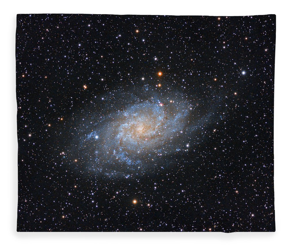 Galaxy Fleece Blanket featuring the photograph Triangulum Galaxy by Prabhu Astrophotography
