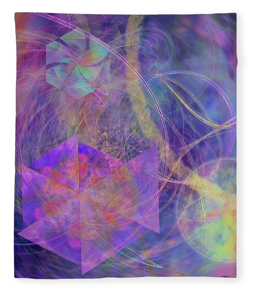 Turbo Blue Fleece Blanket featuring the digital art Turbo Blue by John Robert Beck