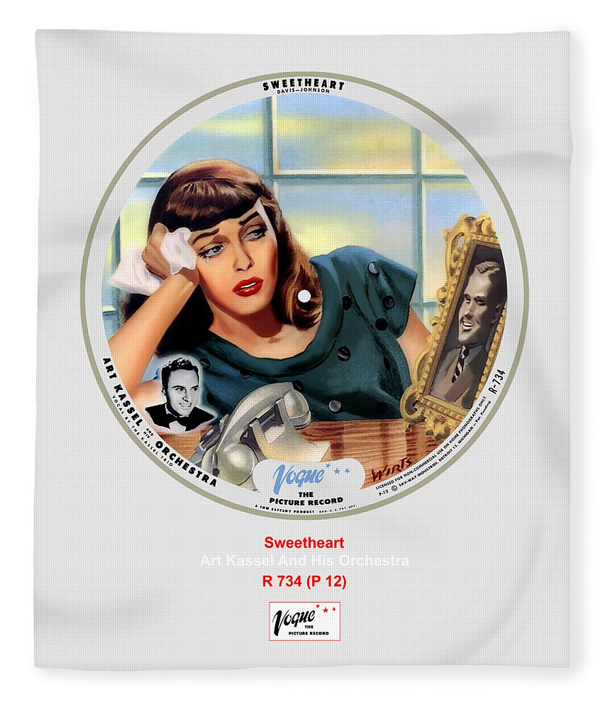 Vogue Picture Record Fleece Blanket featuring the digital art Vogue Record Art - R 734 - P 12 by John Robert Beck