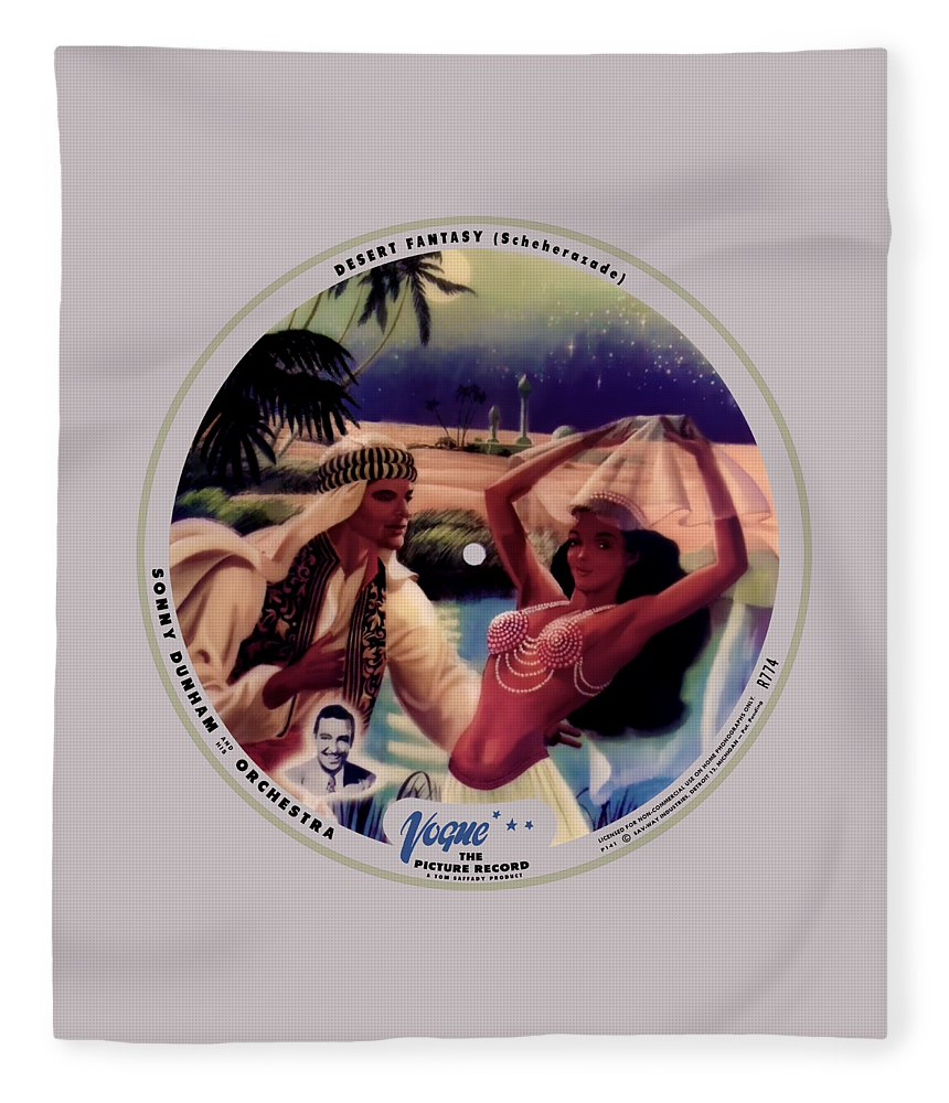 Vogue Picture Record Fleece Blanket featuring the digital art Vogue Record Art - R 774 - P 141 - Square Version by John Robert Beck