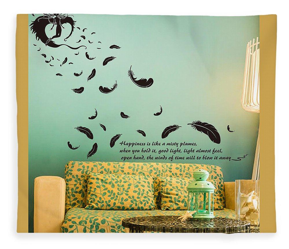 Fleece Blanket featuring the digital art Wall art by Wild
