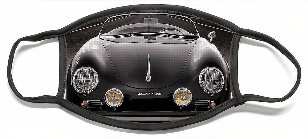 Porsche Face Mask featuring the photograph Black Porsche Speedster by Douglas Pittman
