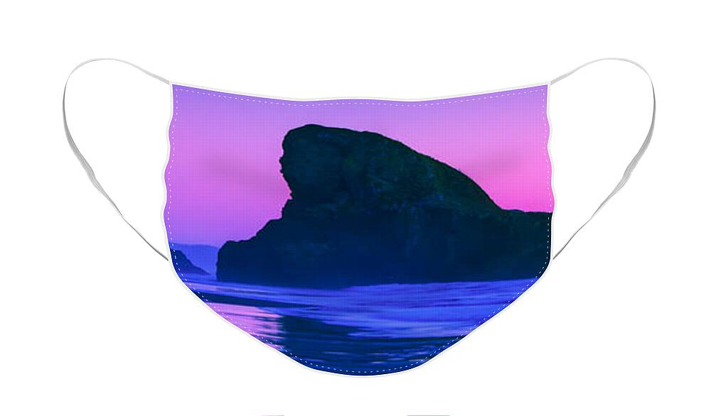 Meyers Creek Beach Face Mask featuring the photograph Sea Stacks on the Oregon Coast by Rich Leighton
