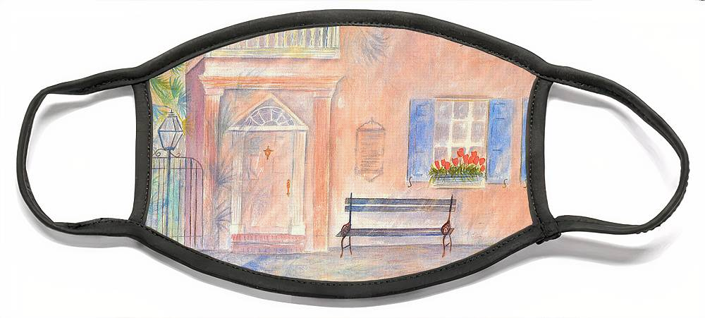 Charleston Face Mask featuring the painting Sunday Morning in Charleston by Ben Kiger