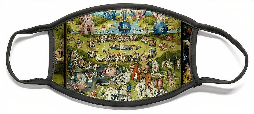 Hieronymus Bosch Face Mask featuring the painting The Garden Of Earthly Delights by Hieronymus Bosch