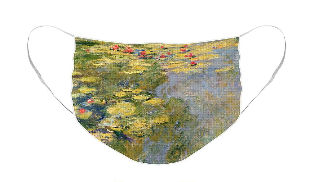 Impressionist Face Mask featuring the painting The Waterlily Pond by Claude Monet