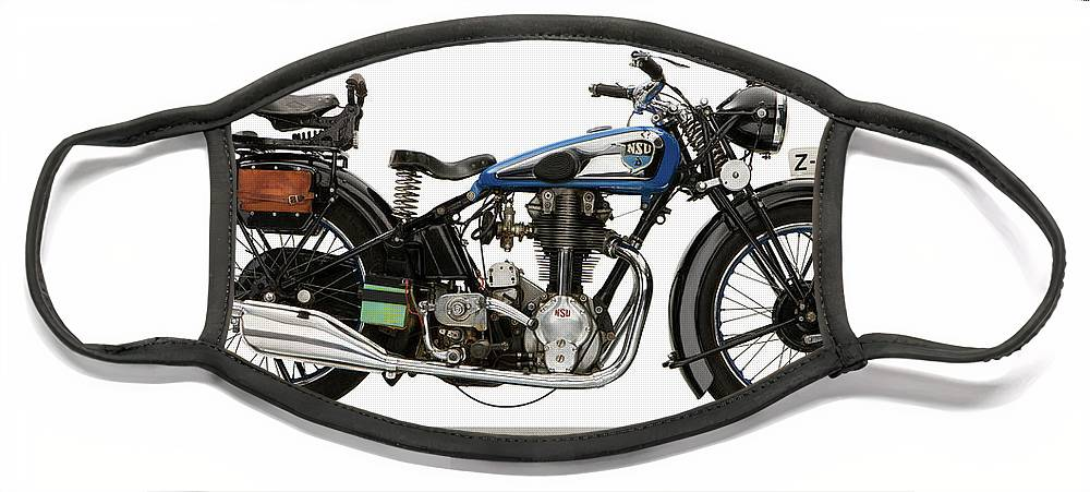 Photography Face Mask featuring the photograph 1935 Nsu Single Ohc Twin Port Motorcycle by Panoramic Images