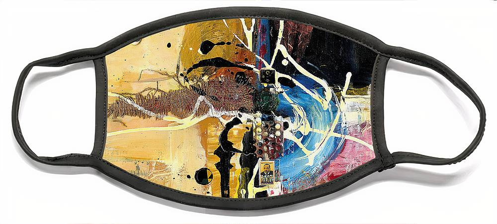 Everett Spruill Face Mask featuring the painting Cultural Abstractions - Martin Luther King jr by Everett Spruill