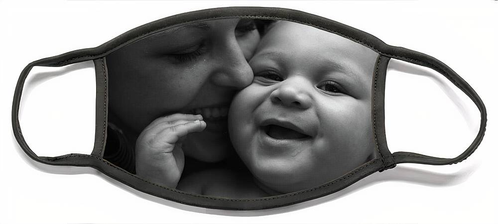 Black And White Face Mask featuring the photograph Joy by Nadine Rippelmeyer