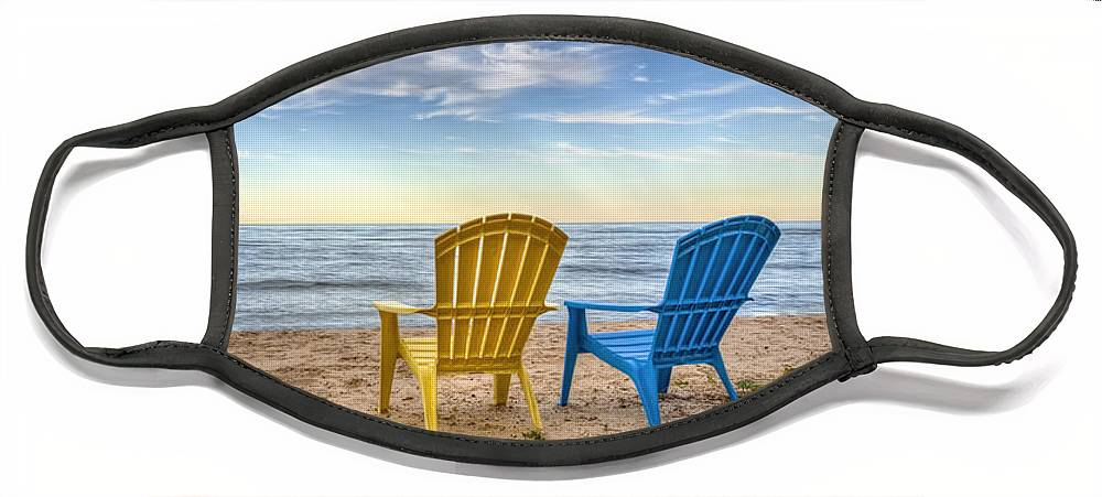 Chairs Face Mask featuring the photograph 3 Chairs by Scott Norris