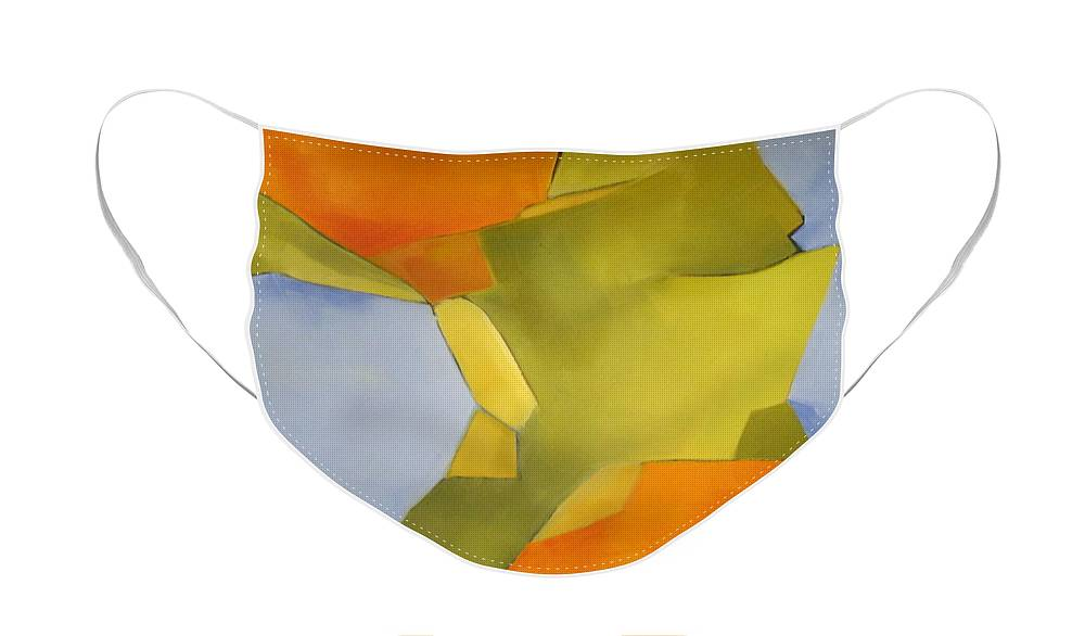 Blue Face Mask featuring the painting Morning Light and Bright by Patricia Cleasby