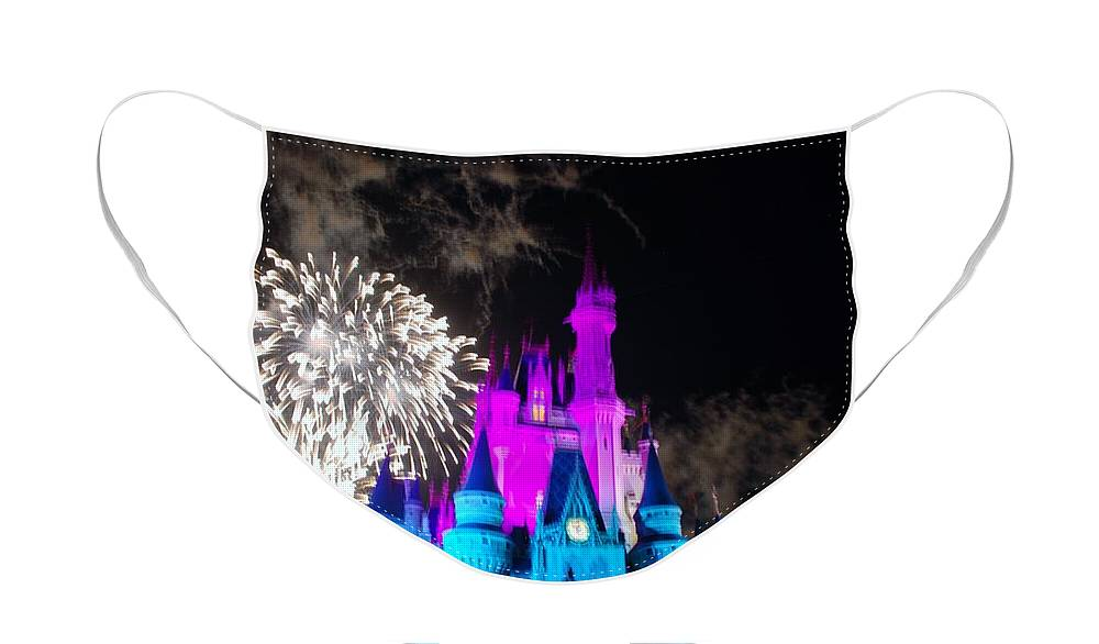 Walt Disney World Face Mask featuring the photograph Cinderella Castle by Rob Hans