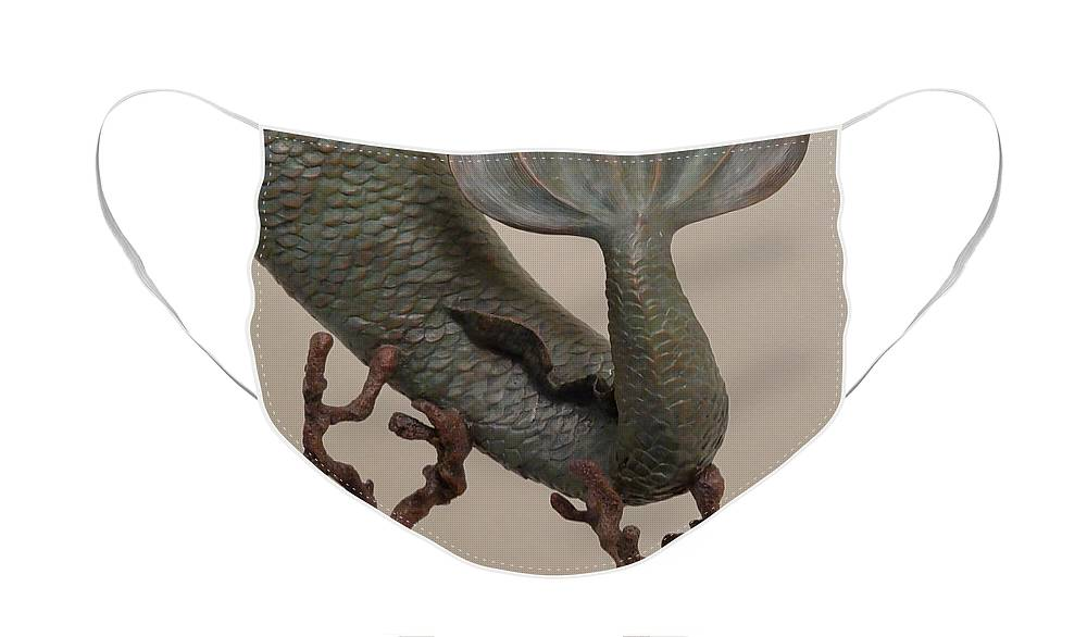 Bronze Face Mask featuring the sculpture The Mermaid by Lisbeth Sabol