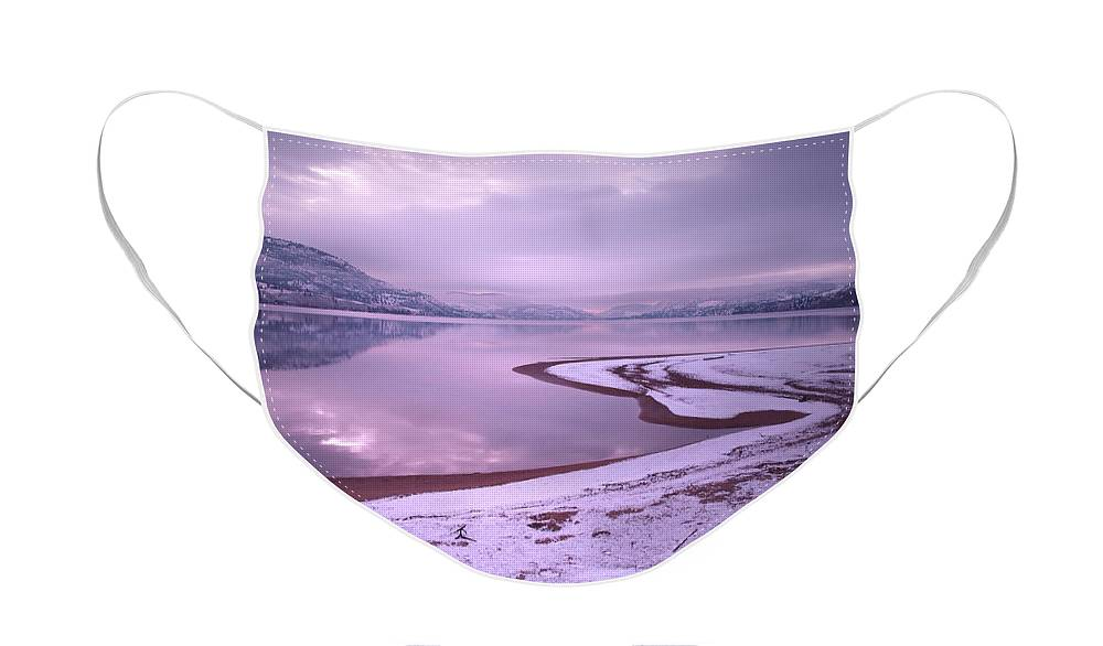 Winter Face Mask featuring the photograph A Snowy Shore by Tara Turner