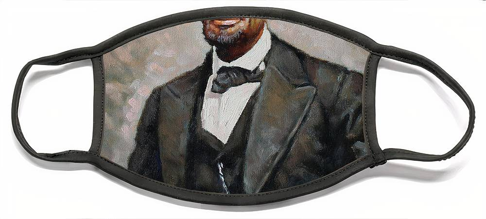 Abraham Lincoln Face Mask featuring the painting Abraham Lincoln by Ylli Haruni