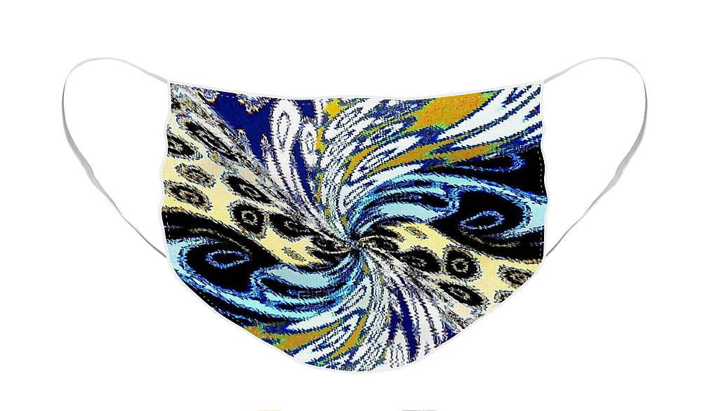 Abstract Fusion Face Mask featuring the digital art Abstract Fusion 198 by Will Borden