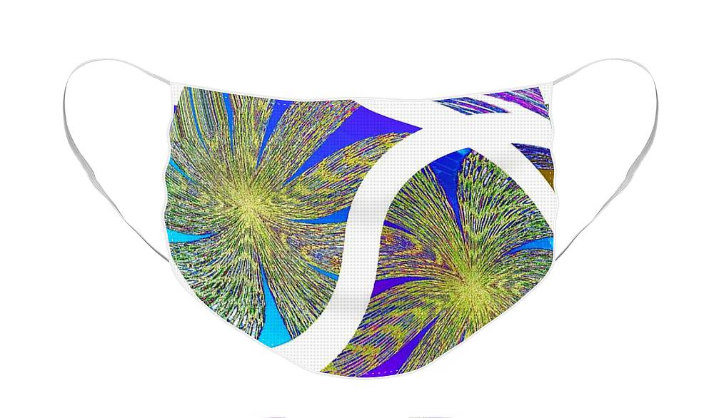 Abstract Fusion Face Mask featuring the digital art Abstract Fusion 203 by Will Borden