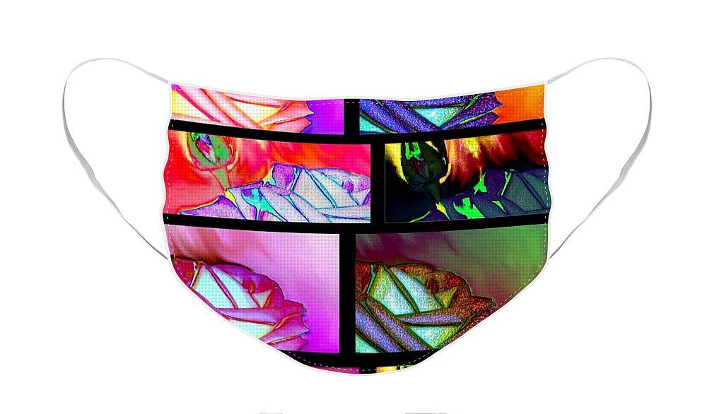 Abstract Fusion 214 Face Mask featuring the digital art Abstract Fusion 214 by Will Borden