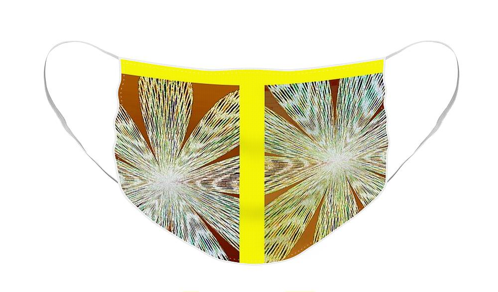 Abstract Fusion 216 Face Mask featuring the digital art Abstract Fusion 216 by Will Borden