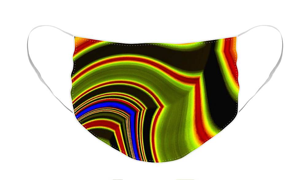 Abstract Fusion 234 Face Mask featuring the digital art Abstract Fusion 234 by Will Borden