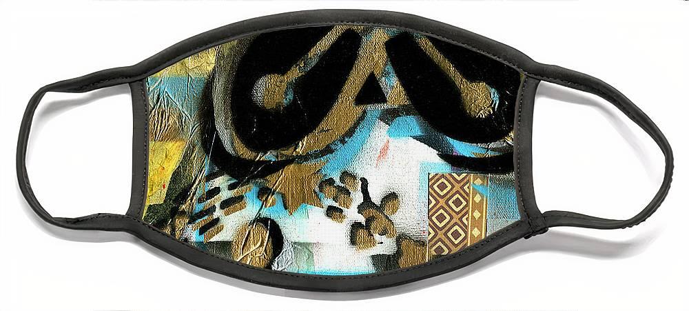 Everett Spruill Face Mask featuring the painting Abundance by Everett Spruill