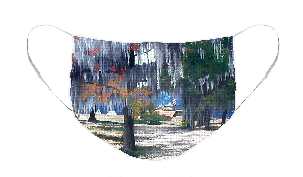 Fort Jackson Face Mask featuring the painting Alabama Fort Jackson by Beth Parrish