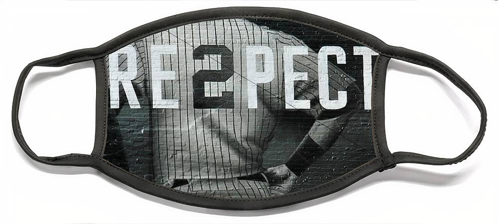 Yankees Face Mask featuring the photograph Derek Jeter Respect by Jewels Hamrick