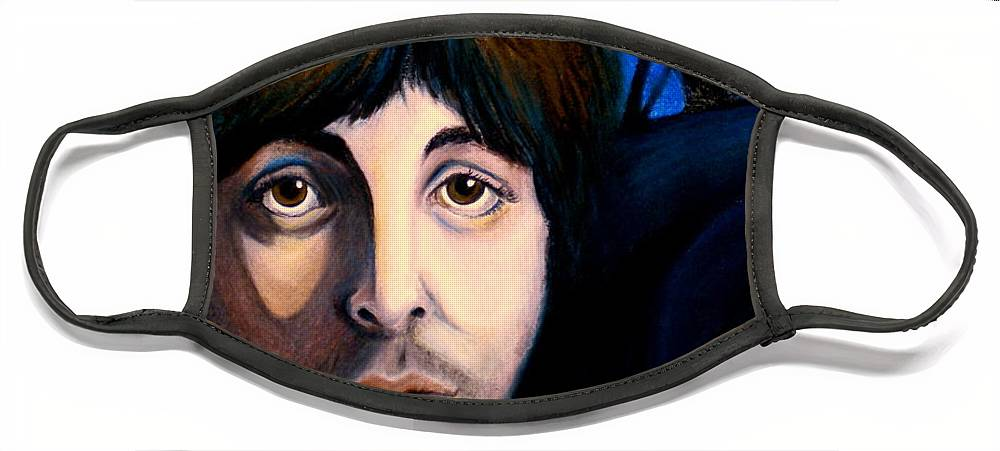 Paul Mccartney Face Mask featuring the painting Blackbird by Debi Starr