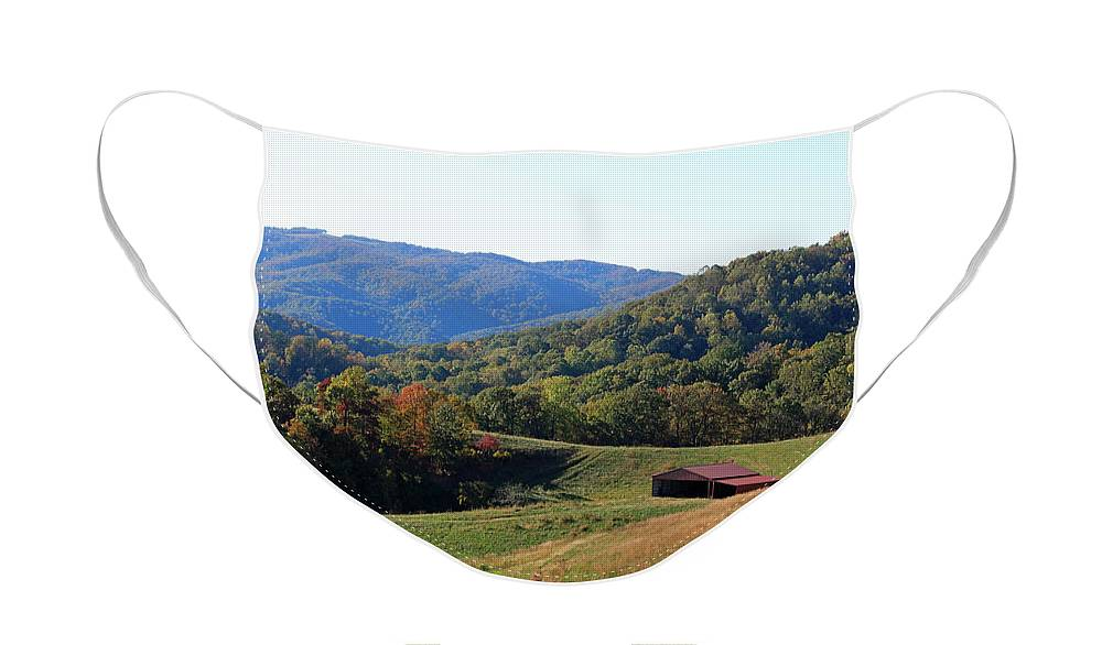 Blue Ridge Face Mask featuring the photograph Blue Ridge Scenic by Suzanne Gaff