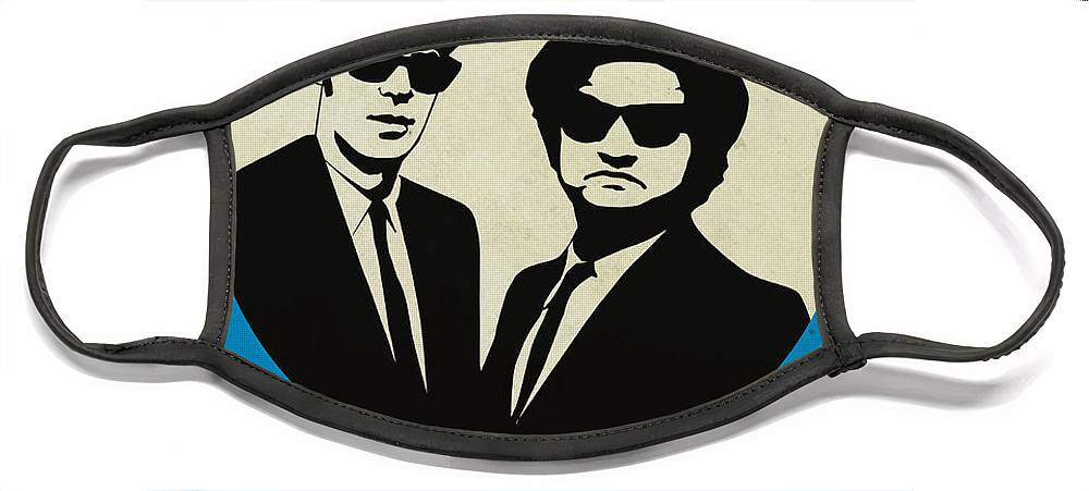 Face Mask featuring the painting Blues Brothers Poster by Naxart Studio