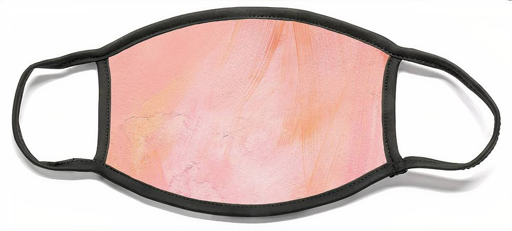 Pink Abstract Face Mask featuring the painting Blush- abstract painting in pinks by Linda Woods
