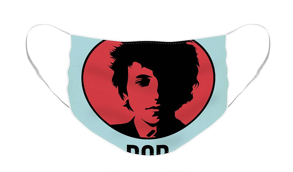 Music Face Mask featuring the digital art Bob Poster 2 by Naxart Studio